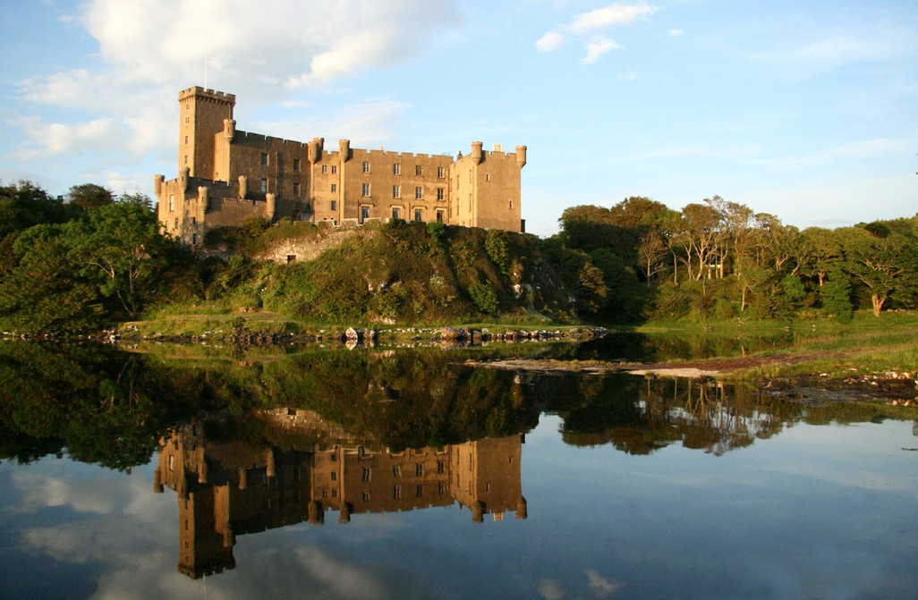 Hrad Dunvegan na ostrově Skye